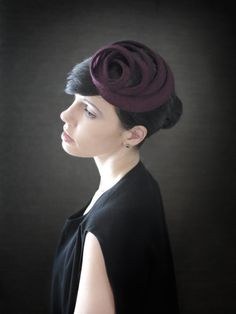 Hey, I found this really awesome Etsy listing at https://www.etsy.com/listing/210370718/modern-maroon-felt-fascinator-fall