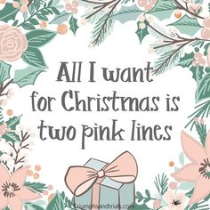infertility: This would be the best Christmas gift ever! Wouldnt it be amazing if it was as e. Infertility Quotes, Pcos Infertility, Endometriosis, Pregnancy Quotes, Baby Quotes, Best Christmas Gifts, Christmas Fun, Christmas Morning, Pregnancy Affirmations