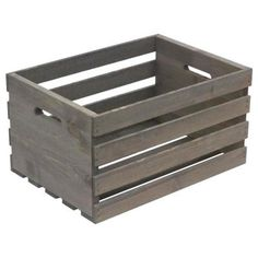 Crates & Pallet 18 in. Large Crate in Weathered - The Home Depot Crates & Pallet 18 in. Large Crate in Weathered Gray