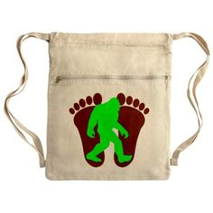 Neon Green Bigfoot Cinch Sack