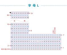 Crochet Alphabet Letters, Crochet Letters Pattern, Letter Patterns, Crochet Patterns, Baby Blanket Crochet, Crochet Lace, Free Pattern, Charts, Cross Stitch