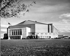 The Allen County War Memorial Coliseum in Fort Wayne, Indiana first built in 1952.