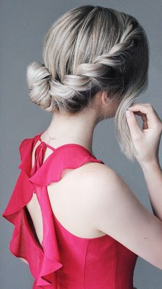 French Rope Braided Up-do