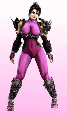 Designed by artist Hiroyu Oku (creator of manga series Gantz), I guess she's another popular character among Soul Calibur fans. Again, it's too bad she was never endowed with any unique weapons or ...