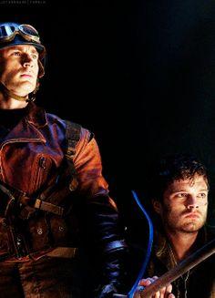 Captain America The First Avenger: Steve Rogers and Bucky Barnes confront Johann Shmidt (Red Skull) and Dr. Arnim Zola