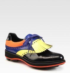 Prada Multicolored Saddle Shoe in Multicolor for Men (cocoa-black) | Lyst