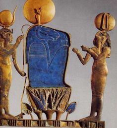 Pectoral museo Cairo procedente de Taremu, de la reina Kama [the sun over the Firmament (lapis Lazuli)]