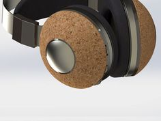 Sourk wireless headphones are made from materials like cork and leather and improve the sound quality and acoustic insulation properties of the traditional headphone.
