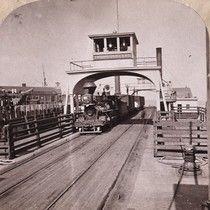"1568. R. R. Freight Transfer Ferry-boat, ""Thoroughfare."""