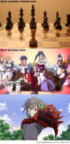 Chess: Reality vs. Anime