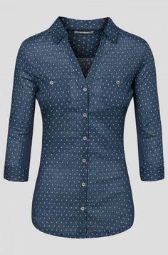 Koszula w kropeczki   ORSAY Plaid Shirt Women, T Shirts For Women, Elegant, Work Outfits, Clothing Ideas, Sweaters, Blouses, Collection, Fashion
