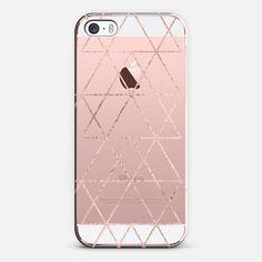 iPhone SE Case Love Triangle in Rose gold