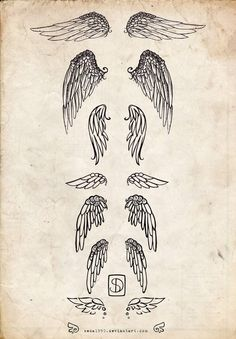 Some wings tattoo designs