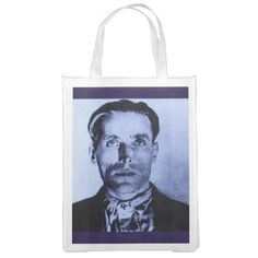 #Joe Hill print Reusable Grocery Bag - #LaborDay Labor Day #labor #day #patriotic #summer #barbecue #bbq #party