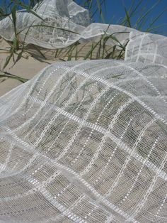 Handwoven linen scarf by ivetadege on Etsy