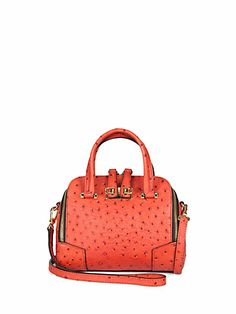 Furla Exclusively for Saks Fifth Avenue: Ostrich-Embossed Mediterranean Dome Handbag $525.00