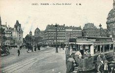 La place Saint-Michel vers 1920