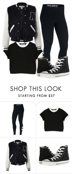 """""""Untitled #295"""" by itsayak on Polyvore featuring NIKE, Sans Souci and Converse"""