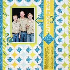 Eagle Scouts Be Young Boy #Scrapbook Layout Project Idea from Creative Memories  http://www.creativememories.com