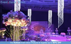 Event Decor Direct's Spiral Crystal Chandeliers are perfect for event designers that want to add some sparkle to their decor. The premium quality acrylic crystals keep them lightweight and affordable. We have many different styles, sizes and colors available. And most chandeliers ship free when your order totals $99 or more. Shop Now at EventDecorDirect.com