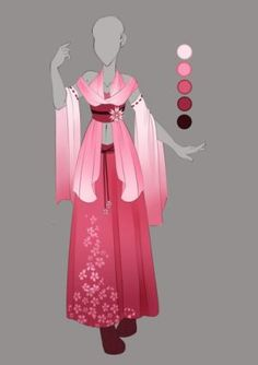 :: Commission Mar Outfit Design :: by VioletKy on DeviantArt Anime Kimono, Anime Dress, Dress Drawing, Drawing Clothes, Fashion Design Drawings, Fashion Sketches, Mode Kawaii, Modelos Fashion, Dress Sketches