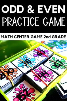 Your students will love playing this odd and even math center practice game. The colorful splashes help keep the pieces organized for ease of use. Use the game in your math lessons or as an early finisher game or practice for slower-paced students. 2nd Grade Teacher, Second Grade Math, Grade 2, Third Grade, Math Games, Math Activities, Math Resources, Math 2, Math Lesson Plans