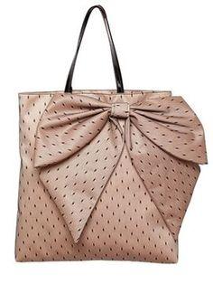 ShopStyle: RED Valentino BOW POINT D\u0027ESPIRIT SATIN TOTE