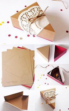 Geschenkverpackung basteln und Geschenke kreativ verpacken - Lo Que Necesitas Saber Para La Fiesta Baking Packaging, Gift Packaging, Diy Gift Box, Diy Box, Craft Gifts, Diy Gifts, Wrapping Ideas, Gift Wrapping, Paper Bag Design