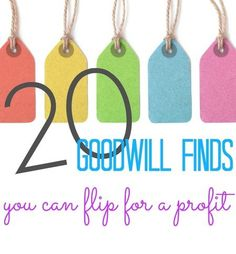 20 of the best Goodwill finds that you can flip for a profit!  Whether your home business is selling on eBay, Amazon, or local groups, this BOLO List is a great place to start!