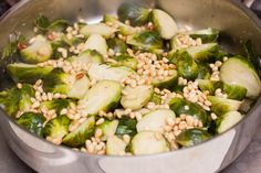Brussel Sprouts with Pine Nuts