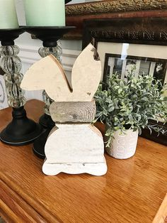 Rustic, farmhouse bunnies are a great addition to any spring decor!