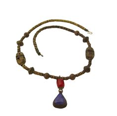 Vintage Tribal Lapis & Carnelian Necklace