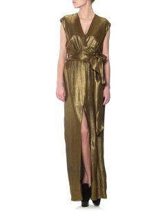 Gold Drop Sleeve Dress | L'Agence | Avenue32