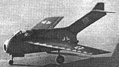 The German Focke-Wulf Ta-183 Huckebein was a jet-powered fighter aircraft designed as the successor to the Messerschmitt Me-262 and other day fighters in Luftwaffe service during World War II.  Only a few proto-types were developed.