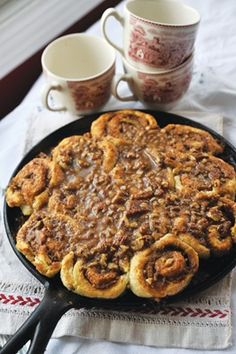Cinnamon Biscuit Recipe: uses heavy whipping cream and is easier and faster than a traditional cinnamon roll recipe.