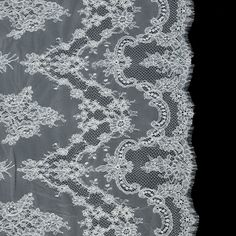 Ivory Floral Corded Lace - 3 Yard Panel