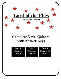 Three quizzes on the novel including multiple choice, vocabulary and short answer.Quiz 1: Chapters 1 to 4Quiz 2: Chapters 5 to 8Quiz 3: Chapters 9 to 12A great tool to encourage reading and discussion. Answer keys included to make marking easier.