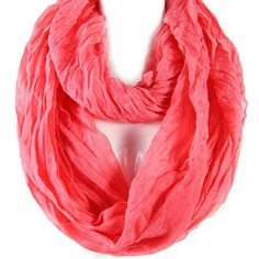 Infinity Scarf Early Spring!! Coral (price is lowest) lightweight cotton Accessories Scarves & Wraps