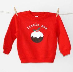 Precious Little Plum 'Little Pud' Christmas Pudding Jumper