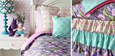 Caden Lane's bedding sets are perfect to keep the same theme from #nursery to #toddler #room. #purple