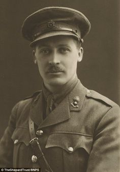Illustrator: Shepard, pictured above in 1915 before he left for the Western front, assiduo...