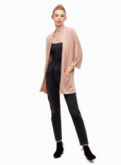 This is an open-front cardigan sweater with pockets. It's made with Wilfred Free's signature Reposa™ fabric — a luxe jersey knit that hangs beautifully and skims the body. My Shopping List, Open Front Cardigan, Hoodies, Sweatshirts, Sweater Cardigan, Sweaters For Women, Normcore, Turtle Neck, V Neck
