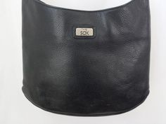 The Sak Purse Handbag Shoulder Bag Black Genuine Leather  #TheSak #ShoulderBag