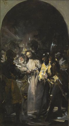 The Taking of Christ  Francisco Goya. LOVE the arch.