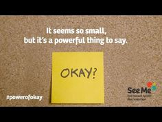 The Power of Okay - full version- *Explicit Language* Mental Health Campaigns, Mental Health Stigma, Mental Health Support, Mental Health Problems, Mental Illness, Wise Up, Low Mood, Crazy Life, Health Promotion