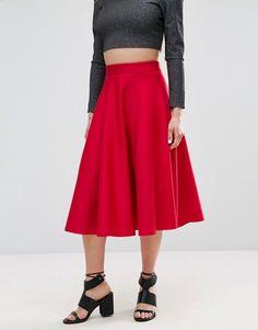 ASOS High Waisted Full Circle Scuba Prom Skirt $53