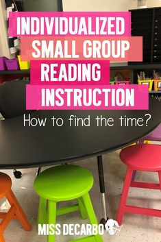 How to make time for one-on-one instruction in the classroom during small group reading through reading intervention, running records, and reading binders. Small Group Reading, Guided Reading Groups, Reading Centers, Reading Activities, Teaching Reading, Teaching Ideas, Spelling Activities, Kindergarten Classroom, Teacher Resources