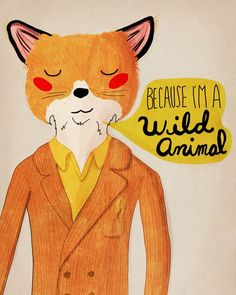 Art print inspired by The Fantastic Mr. Fox. Great art for the nursery or kids rooms.