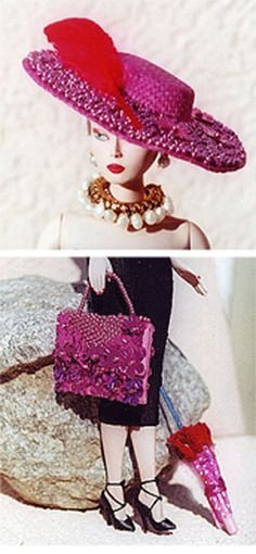 Mdvanii By Billy Boy in beaded hat and purse set