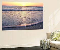 Atlantic Sunrise Wall Mural by James Volosin - at AllPosters.com.au